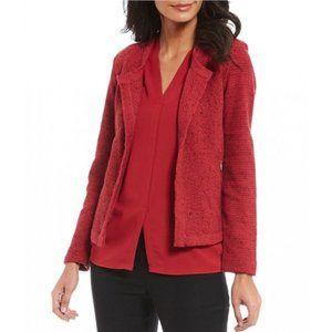 ZOZO Zipped Pockets Open Cardigan Rio Red XL #4392